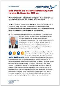 Der Pressetext zur Innovation von AkzoNobel.