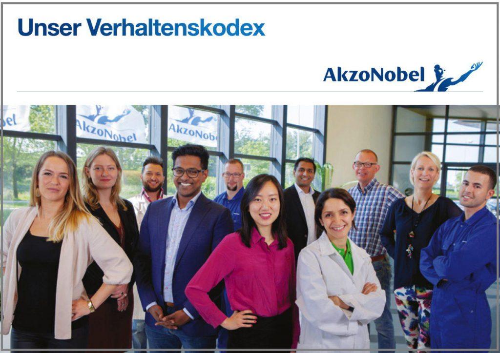 Der Verhaltenskodex von Akzo Nobel.